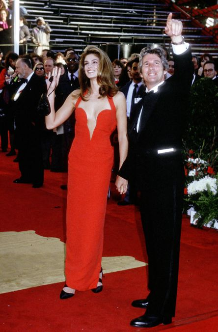 Photo 19 from Cindy Crawford's Red Versace Plunge Dress
