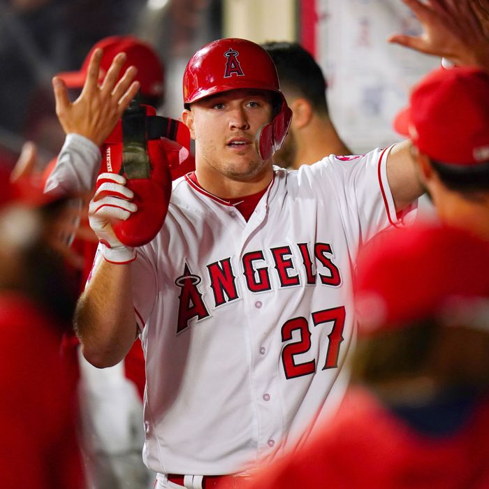 innovative design 932db 6fef9 Mike Trout, Virtual Unknown, Has a Record-Breaking Contract