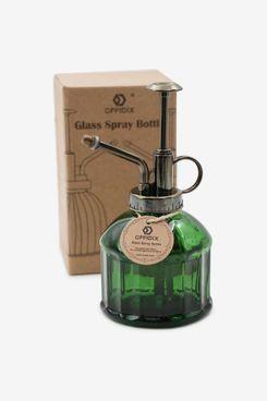 OFFIDIX Dark Green Glass Watering Spray Bottle