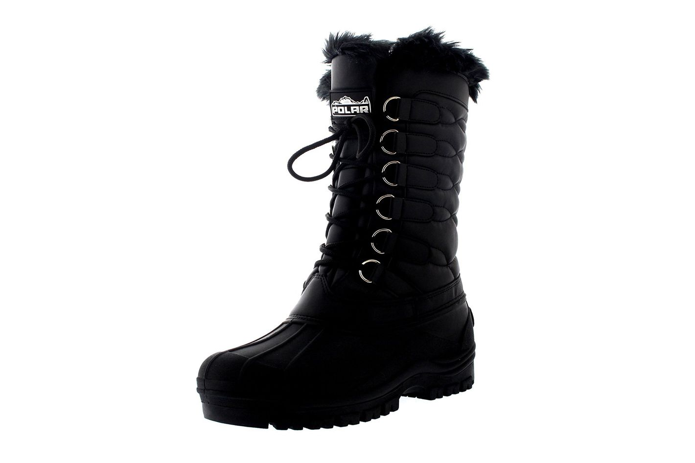 16d482779bda Best quilted waterproof duck boot. Polar Products Women s Nylon Cold  Weather Duck Lace Boot