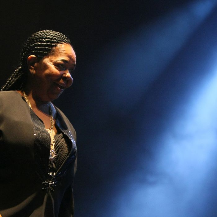 (FILES) - A file picture taken on October 10, 2009 in Paris shows Legendary Cape Verdean singer Cesaria Evora, nicknamed the