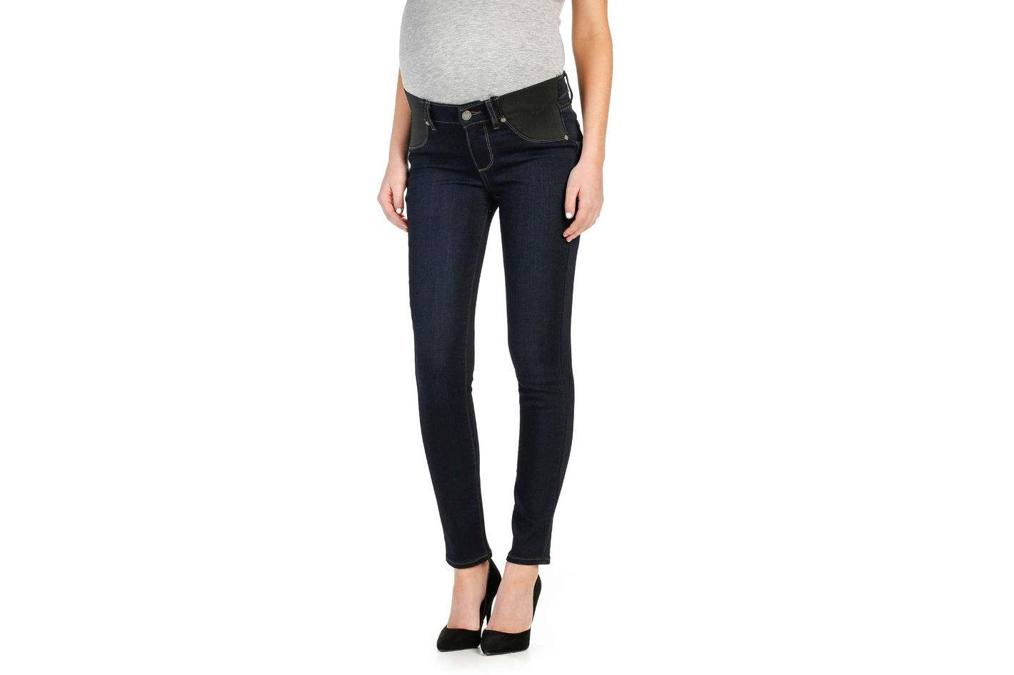 Paige Transcend Verdugo Ankle Skinny Maternity Jeans