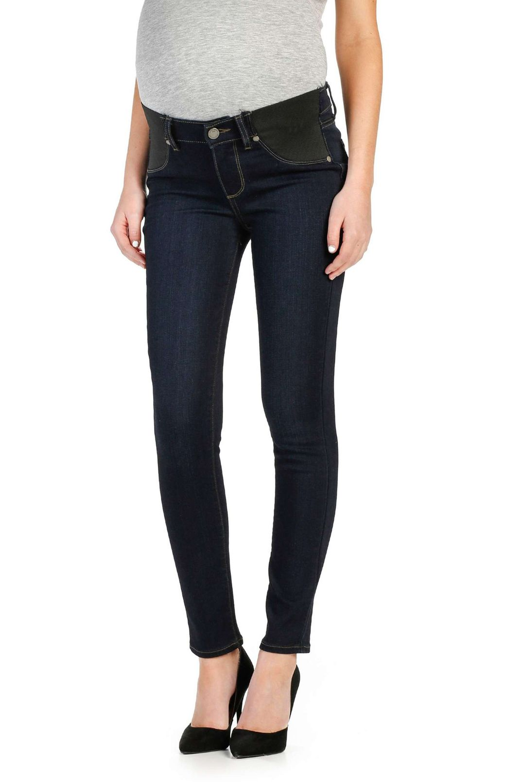 c0d3becd8b734 Paige Transcend Verdugo Ankle Skinny Maternity Jeans