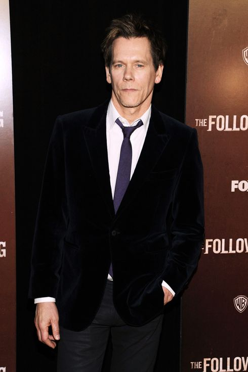 "Actor Kevin Bacon attends ""The Following"" World Premiere at The New York Public Library on January 18, 2013 in New York City."
