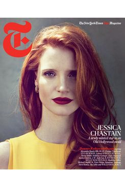 Jessica Chastain's <em>T</em> cover.