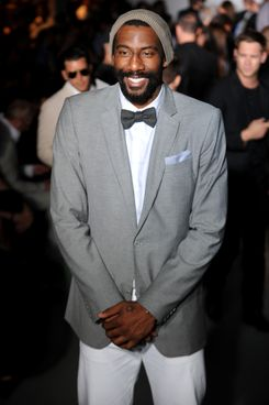 Amare Stoudemire attends the Calvin Klein Collection Fashion Show as part of Milan Fashion Week Menswear Spring/Summer 2013