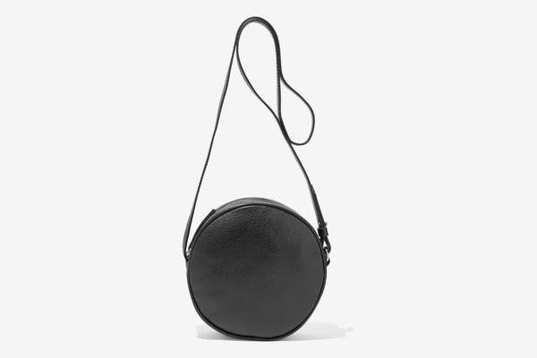 Iris & Ink Pebbled Leather Shoulder Bag