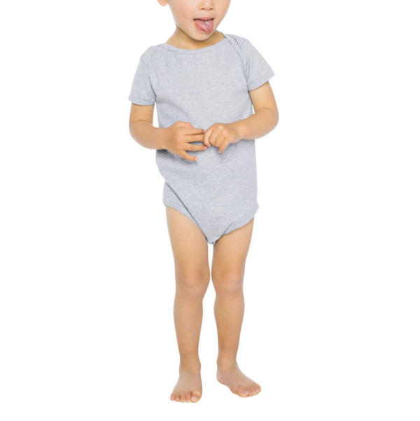 American Apparel Unisex Baby Rib Short Sleeve One-Piece