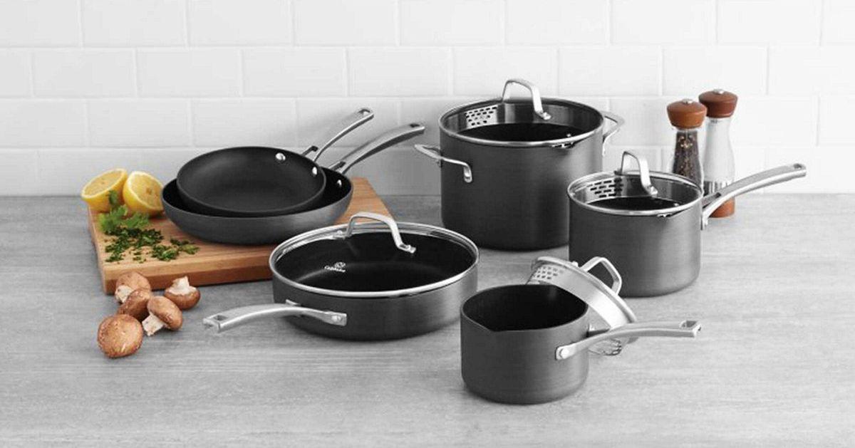 Sale Calphalon Classic Nonstick 10 Piece Cookware Set 2018