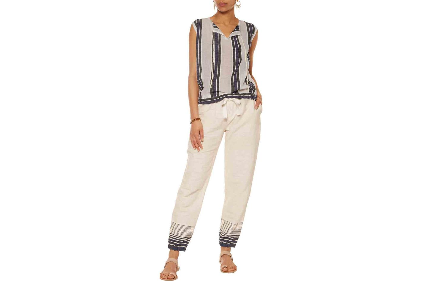 Lemelm Biftu Slub Cotton-Blend Track Pants