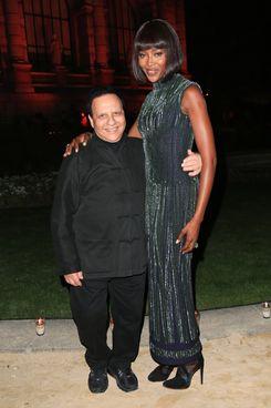 Azzedine Alaïa and Naomi Campbell.