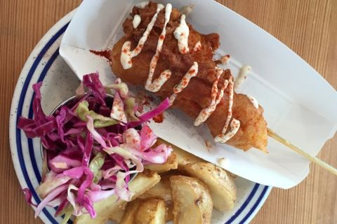 The lobster corn dog.