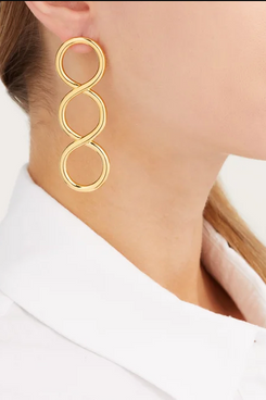 gold jw anderson twist earrings - strategist fashion summer sale