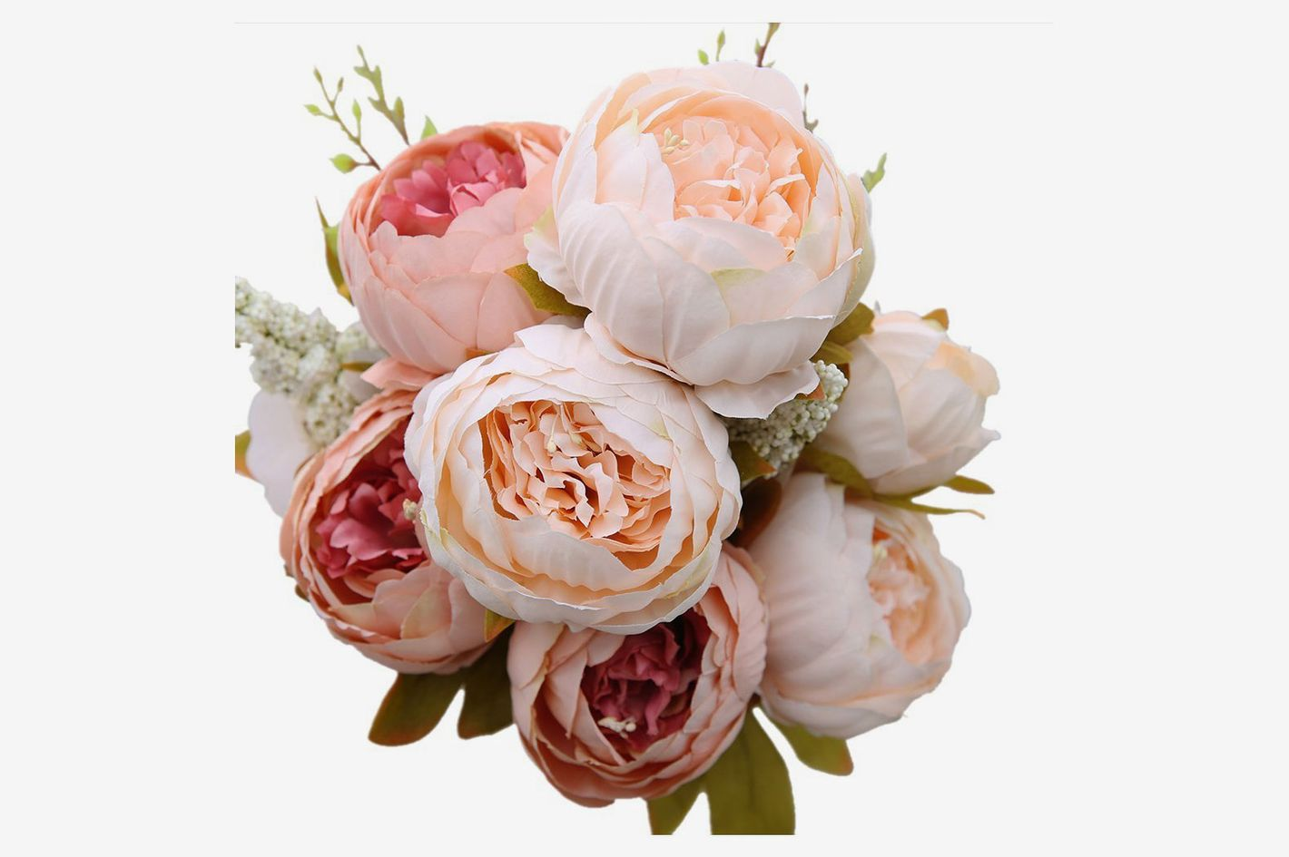 Luyue Vintage Artificial Peony Silk Flowers At