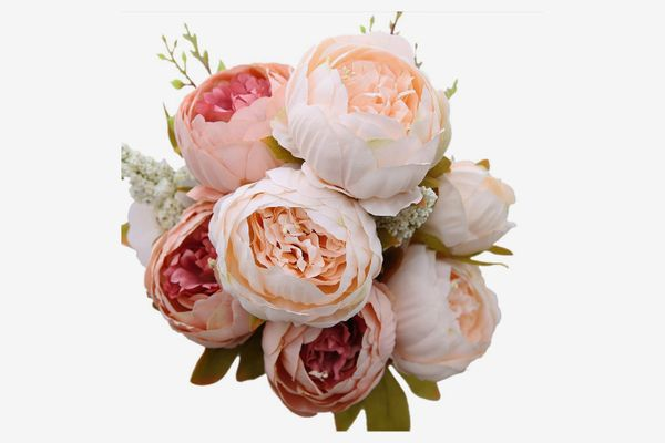 Luyue Vintage Artificial Peony Silk Flowers