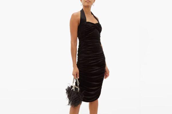 Norma Kamali Sweetheart Neckline Dress