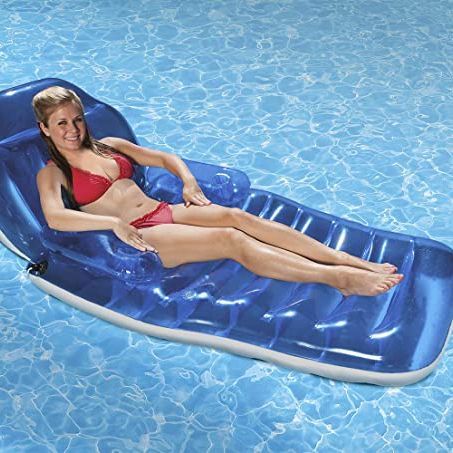 Poolmaster 85687 Adjustable Chaise Swimming Pool Float Lounge