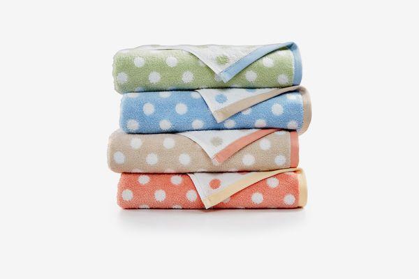 Martha Stewart Collection Cotton Dot Spa Fashion Bath Towel, Created for Macy's