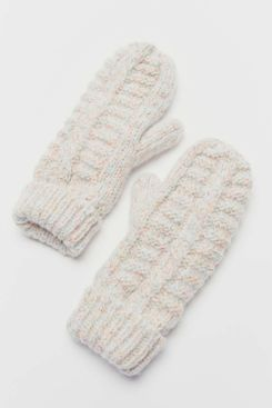 Urban Outfitters Cable-Knit Chenille Mitten