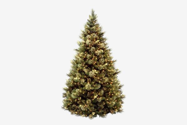 National Tree 7.5 Foot Carolina Pine Tree With Flocked Cones and 750 Clear Lights