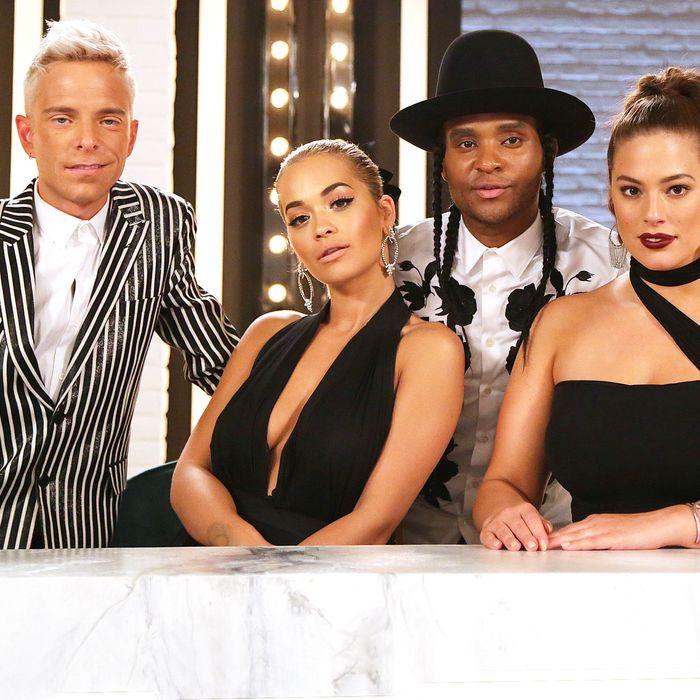 Drew Elliott, Rita Ora, Law Roach, Ashley Graham.