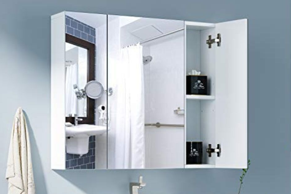 3-Door Mirror Cabinet
