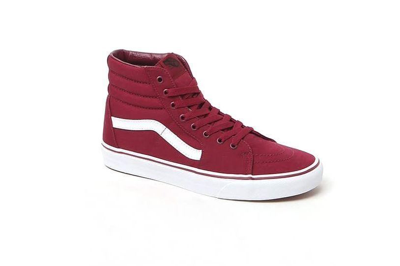 Vans Sk8-Hi Maroon & White Shoes