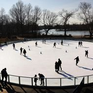 Ice rink at the Samuel J. and Ethel LeFrak Center in Prospect Park