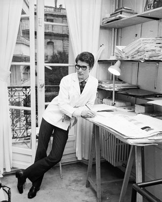 620ddd1846388 What It Was Like to Visit Yves Saint Laurent in His Studio