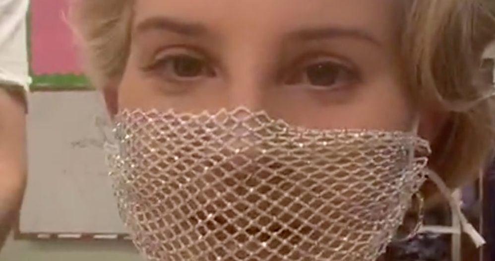 Lana Del Rey Wears Mesh Mask To Poetry Book Signing