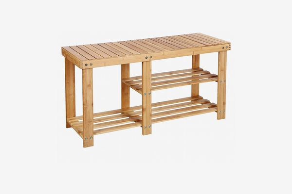 Songmics Bamboo Shoe Rack, 34 Inches Wide