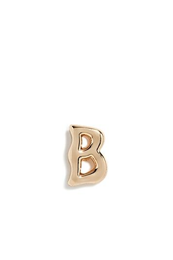 Rebecca Minkoff Initial Single Stud Earring, B
