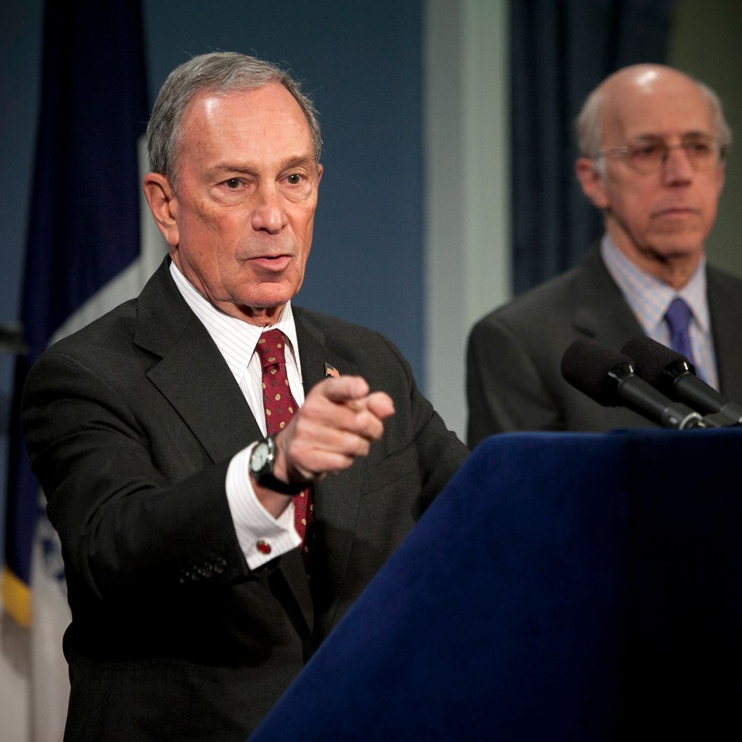 NEW YORK, NY - MARCH 11:  Mayor Michael Bloomberg speaks at a news conference March 11, 2013 New York City. Today a New York state judge halted a controversial ban on large sugary drinks that was to take effect tomorrow.  (Photo by Allison Joyce/Getty Images)