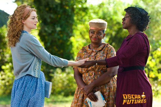 """""""THE HELP""""                      946_D_08558R                      In Jackson, Mississippi in 1963, (left to right) Skeeter Phelan (Emma Stone), Minnie Jackson (Octavia Spencer) and Aibileen Clark (Viola Davis) together take a risk that could have profound consequences for them all in DreamWorks Pictures' drama, """"The Help"""", based on the New York Times best-selling novel by Kathryn Stockett.                      Ph: Dale Robinette                      ?DreamWorks II Distribution Co., LLC. ?All Rights Reserved."""