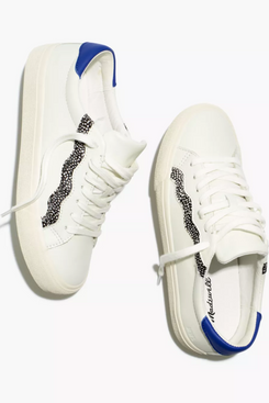 Madewell Sidewalk Low-Top Sneakers in Leather and Calf Hair: Wave Edition