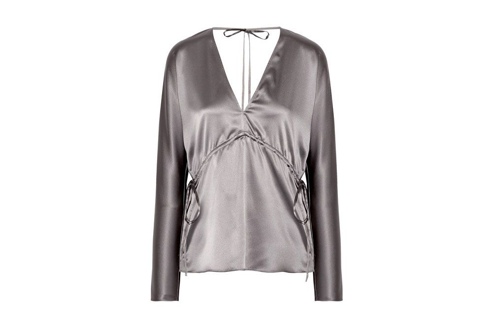 ELIZABETH AND JAMES Ophelie stretch-silk satin blouse