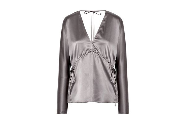 ELIZABETH AND JAMES Ophelie stretch-silk satin blouse