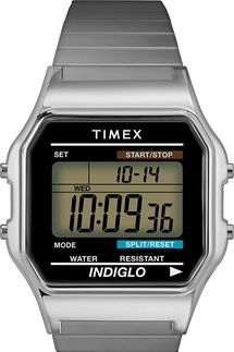 Timex Men's Classic Digital 34 mm Expansion Band Watch