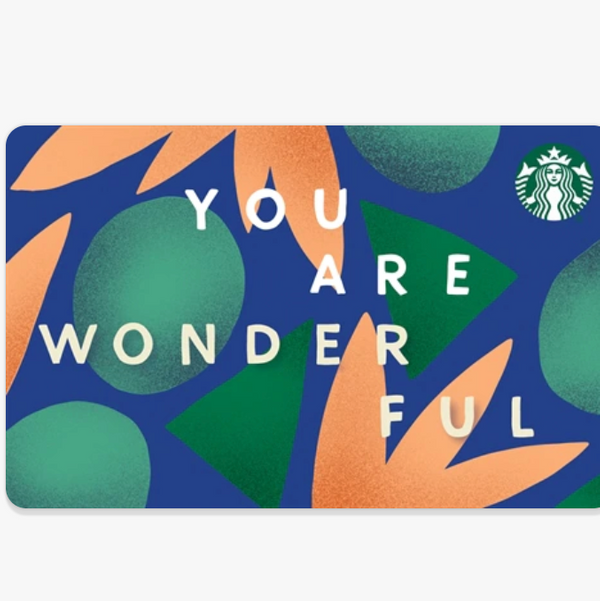 Starbucks Digital Gift Card