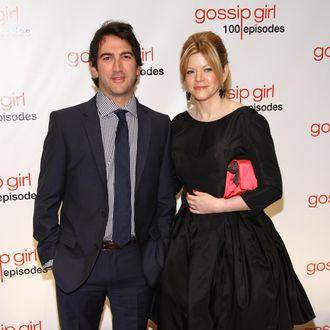 NEW YORK, NY - NOVEMBER 19: Executive producers Josh Schwartz (L) and Stephanie Savage attend the