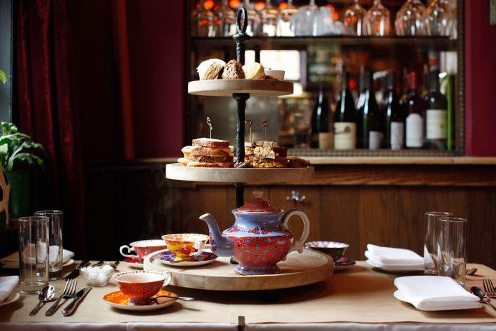 The full tea service.