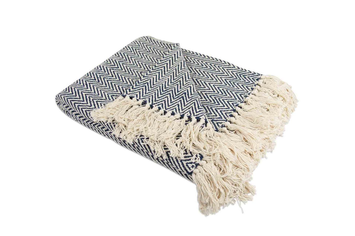 Home Essentials DII Cotton Chevron Herringbone Throw