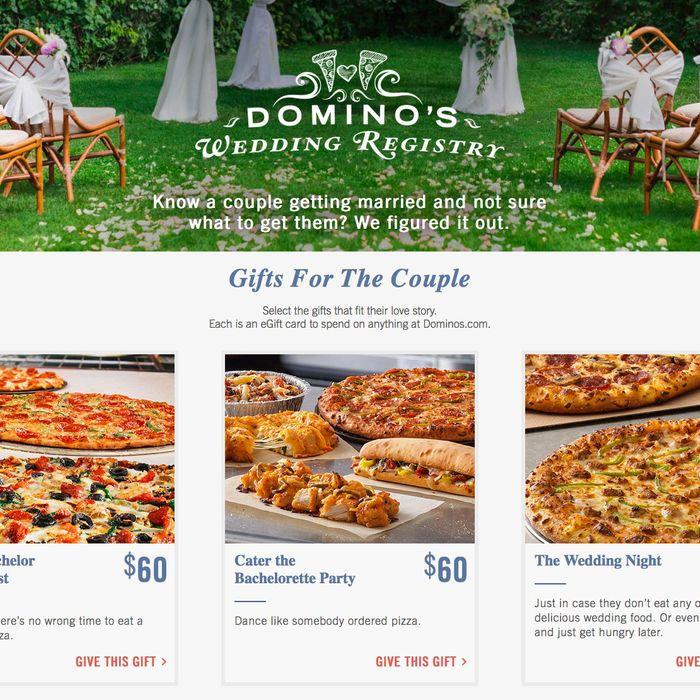 Wedding Registry Search: Domino's Now Has A Wedding Registry
