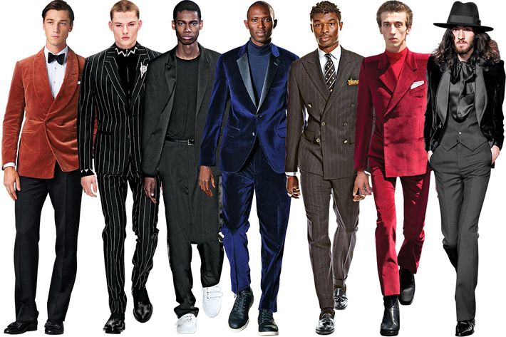 15 Stylish Velvet, Pinstripe, and Shiny Suits for Grooms