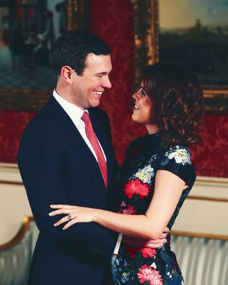 Jack Brooksbank and Princess Eugenie.