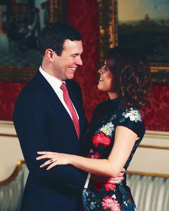 Jack Brooksbank and Princess Eugenie.