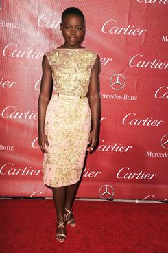 PALM SPRINGS, CA - JANUARY 04:  Lupita Nyong'o arrives at the 25th Annual Palm Springs International Film Festival Awards Gala at Palm Springs Convention Center on January 4, 2014 in Palm Springs, California.  (Photo by Steve Granitz/WireImage)