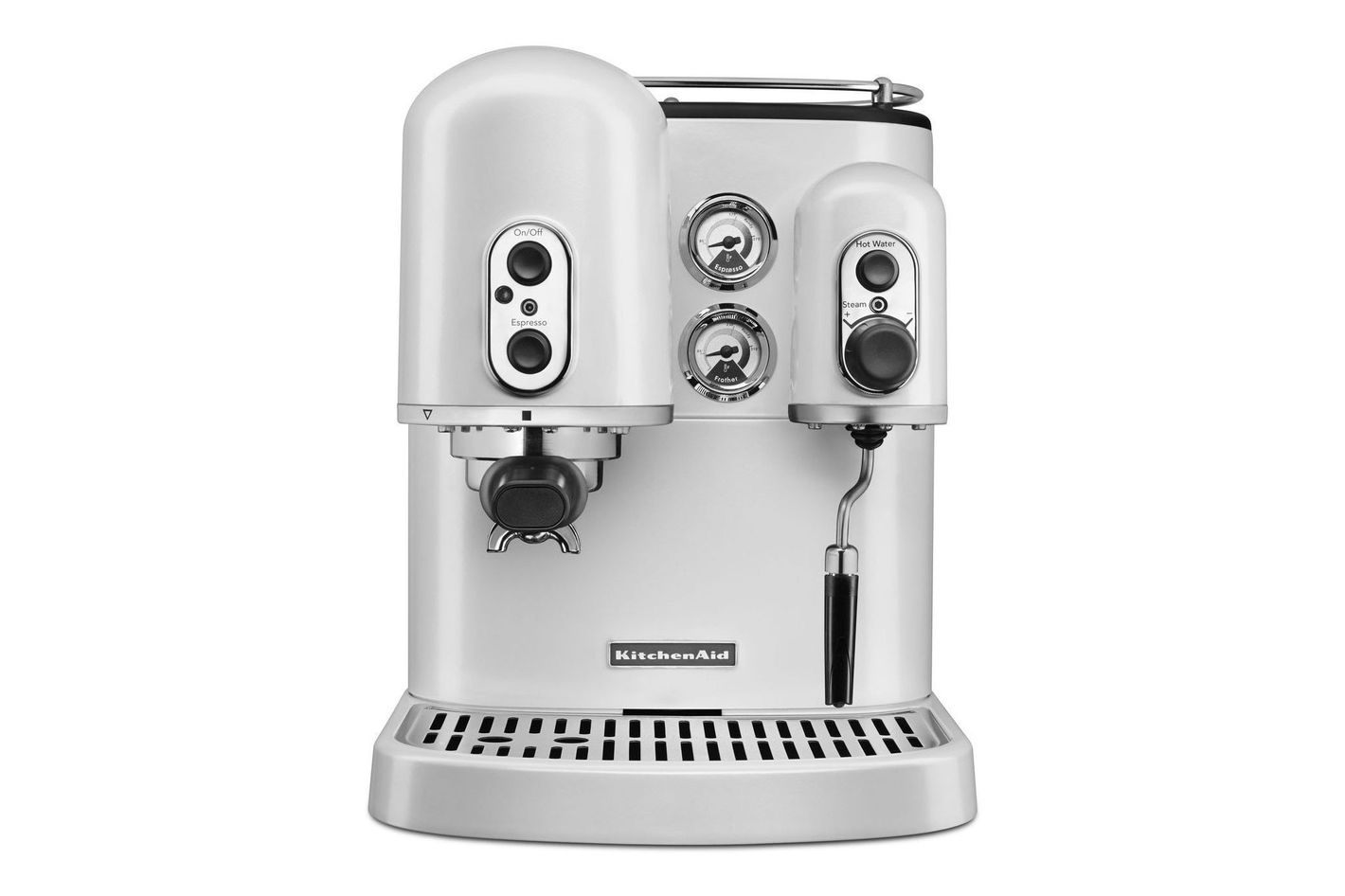 KitchenAid KES2102FP Pro Line Series Espresso Maker With Dual Independent Boilers, Frosted Pearl