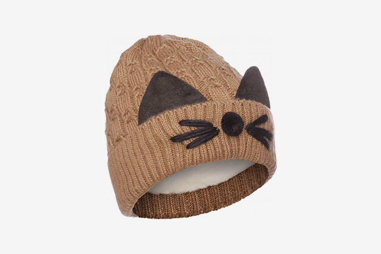 Emmalise Women's Warm Winter Cat Whisker Beanie
