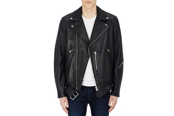 Best boxy and oversized leather jacket is from Acne.